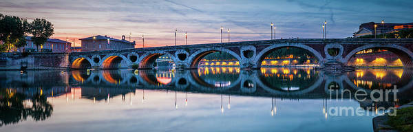 Wall Art - Photograph - Panorama Of Pont Neuf In Toulouse by Elena Elisseeva