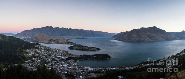 Photograph - Panorama Of Queenstown At Dusk In New Zealand by Didier Marti