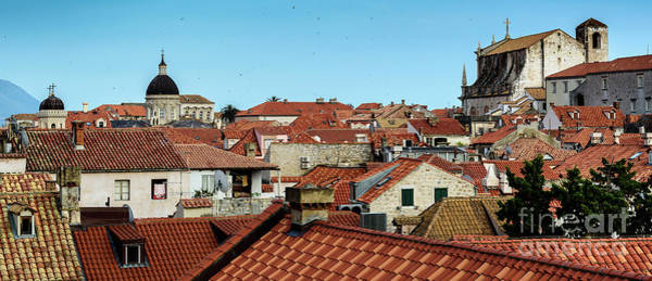 Photograph - Panorama Of Red Roofs Of Dubrovnik, Kings Landing In Game Of Thrones, From The City Walls, Dubrovnik by Global Light Photography - Nicole Leffer