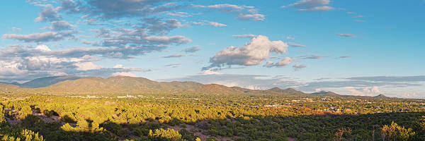 Land Of Enchantment Photograph - Panorama Of Santa Fe And Sangre De Cristo Mountains - New Mexico Land Of Enchantment by Silvio Ligutti