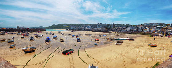 Photograph - panorama of St.Ives beach, Cornwall  by Ariadna De Raadt