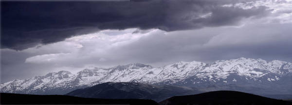 Photograph - M-11119 And M-11120, Panorama Of Stormy East Humboldt Range, Nv by Ed Cooper Photography