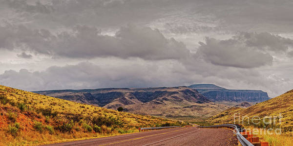 El Paso County Photograph - Panorama Of Stormy Weather Over Wild Rose Pass In The Davis Mountains - Jeff Davis County West Texas by Silvio Ligutti