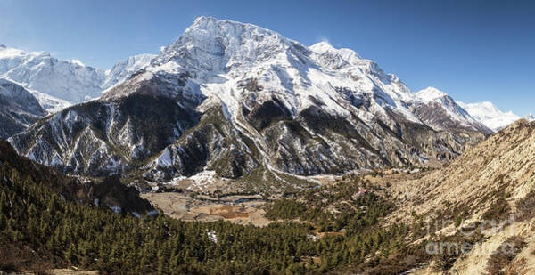 Photograph - Panorama Of The Annapurna IIi Summit In The Himalayas In Nepal by Didier Marti
