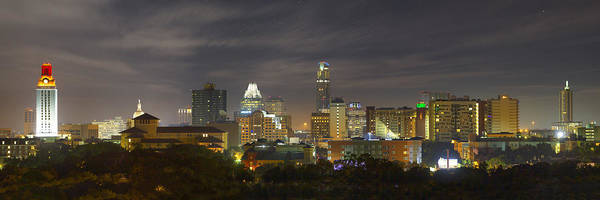 Tx Photograph - Panorama Of The Austin Skyline On A September Morning by Rob Greebon