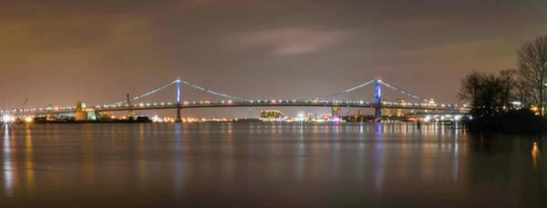 Wall Art - Photograph - Panorama Of The Benjamin Franklin Bridge - Philadelphia by Bill Cannon