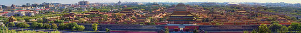 Forbidden City Photograph - Panorama Of The Forbidden City In Bejing by David Smith