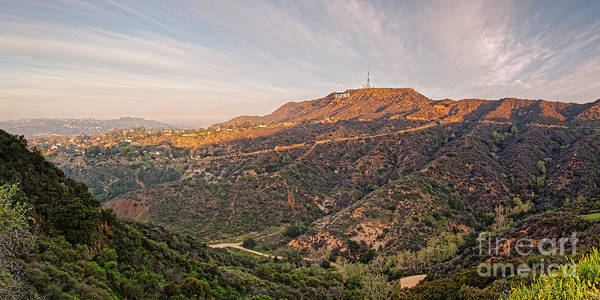 Mulholland Photograph - Panorama Of The Hollywood Hills And Sign - Los Angeles California by Silvio Ligutti