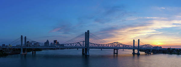 Cable-stayed Bridge Photograph - Panorama Of The John F. Kennedy Memorial Bridge And The Abraham  by Bridget Calip