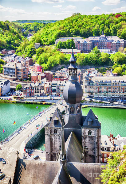 Photograph - panorama of town Dinant by Ariadna De Raadt