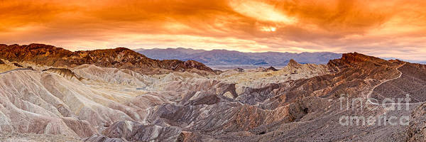 Furnace Creek Photograph - Panorama Of Zabriskie Point Manly Beacon In Death Valley National Park - Inyo County California by Silvio Ligutti