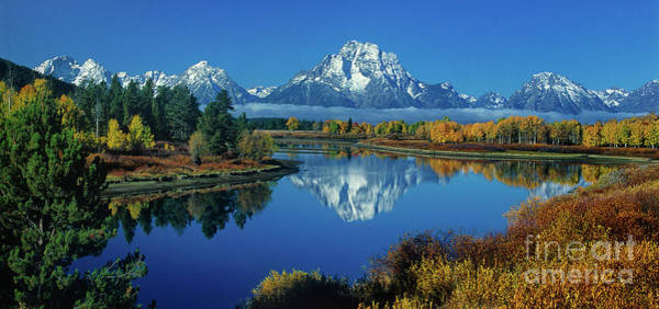 Photograph - Panorama Oxbow Bend Grand Tetons National Park Wyoming by Dave Welling