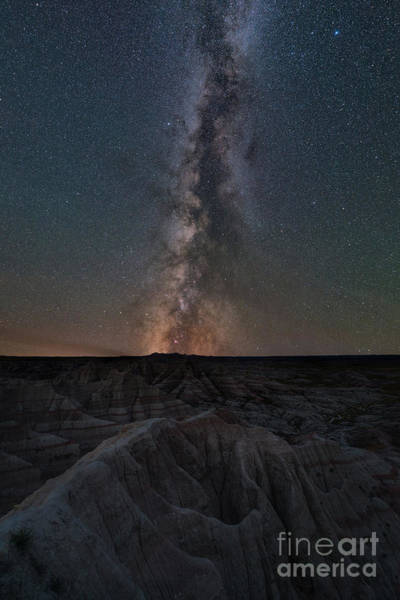 West Point Photograph - Panorama Point Milky Way Badlands  by Michael Ver Sprill