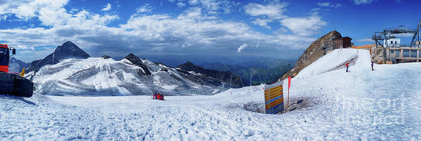 Photograph - panorama Ski resorts  Hintertuxer Gletscher by Ariadna De Raadt