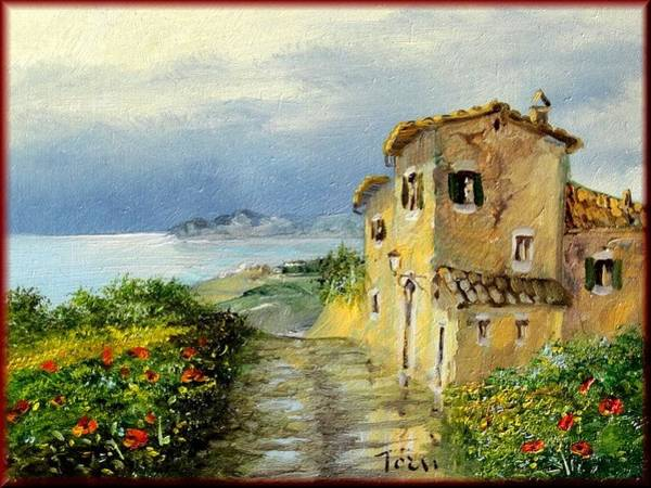 Boot Hill Painting - Panorama Tuscany by Luciano Torsi