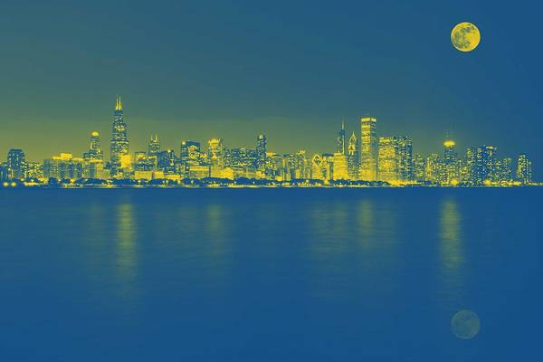 Painting - Panorama View Of Adler Planetarium, Chicago, United States 1 by Celestial Images
