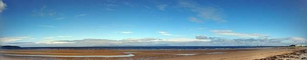 Photograph - Panoramic, Ayr Beach, Scotland by Samuel Pye
