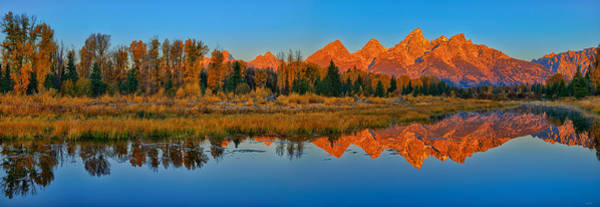 Photograph - Panoramic Dawn At Schwabacher Landing by Greg Norrell