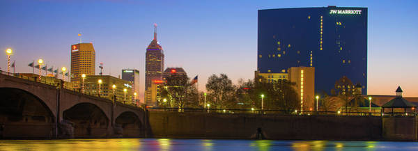 Photograph - Panoramic Indianapolis Skyline Morning by Gregory Ballos