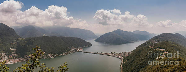 Photograph - Panoramic Of Lake Lugano Switzerland And Italy by Alissa Beth Photography