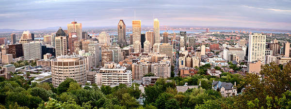 Wall Art - Photograph - Panoramic Photo Montreal City by Mark Duffy