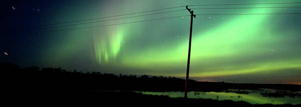 Iceland Digital Art - Panoramic Prairie Northern Lights by Mark Duffy