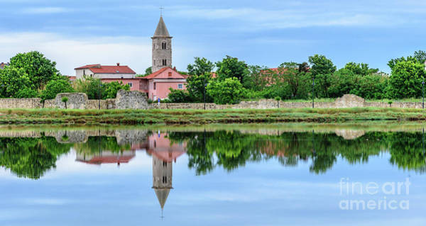 Photograph - Panoramic Reflections Of Nin, Croatia by Global Light Photography - Nicole Leffer