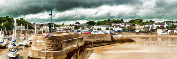 Wall Art - Photograph - Panoramic Saundersfoot by Steve Purnell