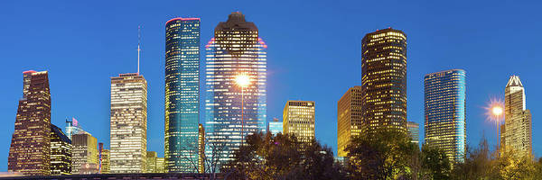 Photograph - Panoramic Skyline Of Houston Texas by Gregory Ballos