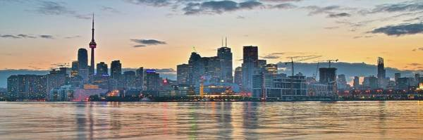 Wall Art - Photograph - Panoramic Sunset In Toronto by Frozen in Time Fine Art Photography