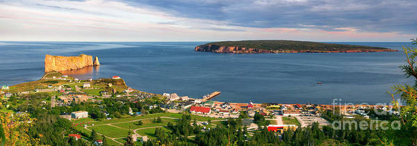 Photograph - Panoramic View In Perce Quebec by Elena Elisseeva