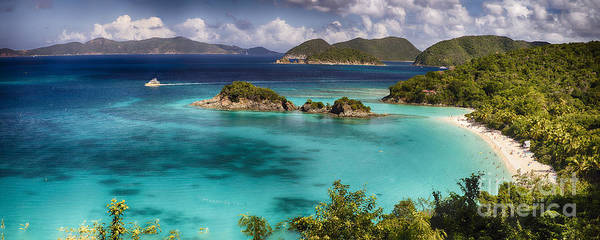 Wall Art - Photograph - Panoramic View Of A Beach With Turquoise Waters by George Oze