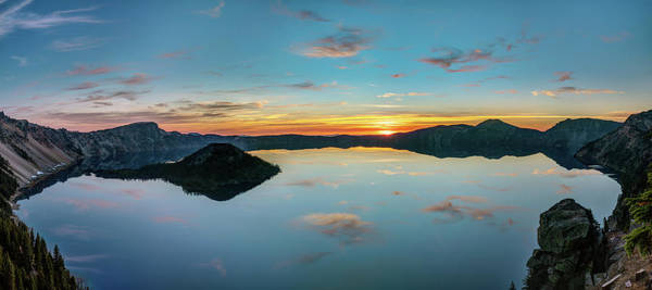 Photograph - Panoramic View Of Crater Lake by Pierre Leclerc Photography