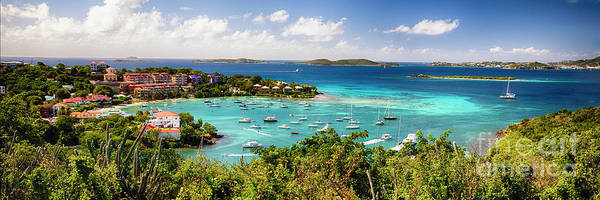 Wall Art - Photograph - Panoramic View Of Cruz Bay Harbor by George Oze