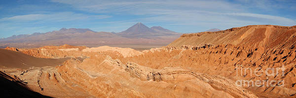 Photograph - Panoramic View Of Death Valley Atacama Desert Chile by James Brunker