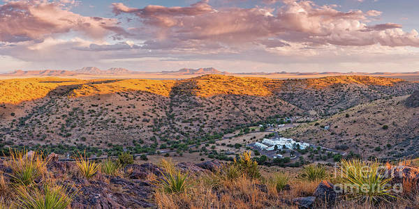 Photograph - Panoramic View Of Indian Lodge And Davis Mountains State Park Looking Into Keesey Canyon West Texas by Silvio Ligutti