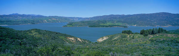 Landforms Photograph - Panoramic View Of Lake Castaic by Panoramic Images