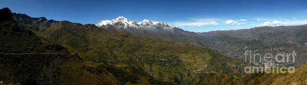 Photograph - Panoramic View Of Northern Part Of Cordillera Real Bolivia by James Brunker