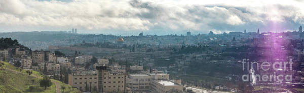 Photograph - Panoramic View Of Old Jerusalem City by PorqueNo Studios