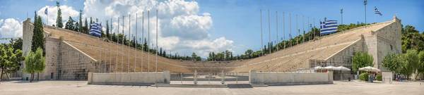 Athens Marathon Wall Art - Photograph - Panoramic View Of Panathenaic Stadium In Athens Greece by Eduardo Huelin