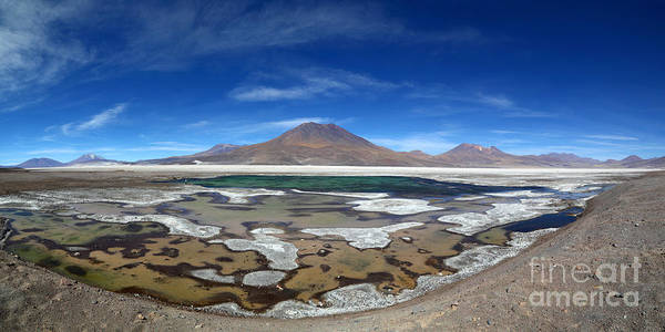Photograph - Panoramic View Of Salar De Ascotan Chile by James Brunker