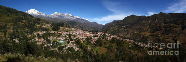 Photograph - Panoramic View Of Sorata And Cordillera Real Bolivia by James Brunker