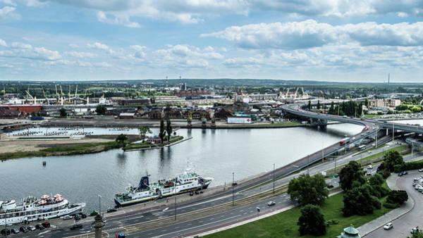 Photograph - Panoramic View Of Szczecin Waterfront by Jacek Wojnarowski
