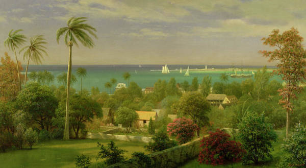 Painting - Panoramic View Of The Harbour At Nassau In The Bahamas by Albert Bierstadt