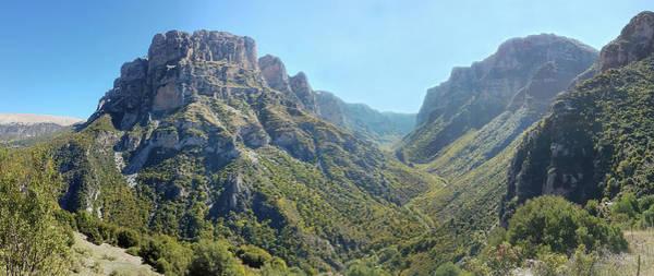 Wall Art - Photograph - Panoramic View Of Vikos Gorge In Epirus, Northern Greece by Iordanis Pallikaras