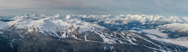 Ski Run Wall Art - Photograph - Panoramic View Of Whistler Mountain by Pierre Leclerc Photography