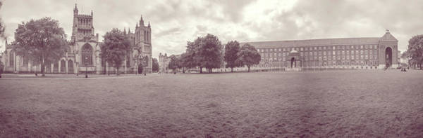 Photograph - Panoramic View Over Bristol Collage Green D by Jacek Wojnarowski