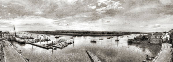 Photograph - Panoramic View Over Topsham Port Hdr by Jacek Wojnarowski