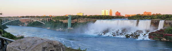 Photograph - Panoramic Views Of The Peacebridge, Niagara River And American Falls by Simply Photos