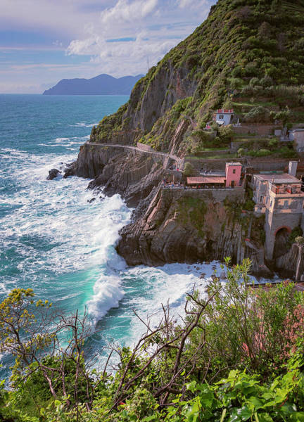 Photograph - Panoramic Walk Riomaggiore Cinque Terre Italy by Joan Carroll
